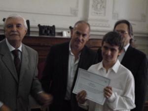 imagen de entrega de premios