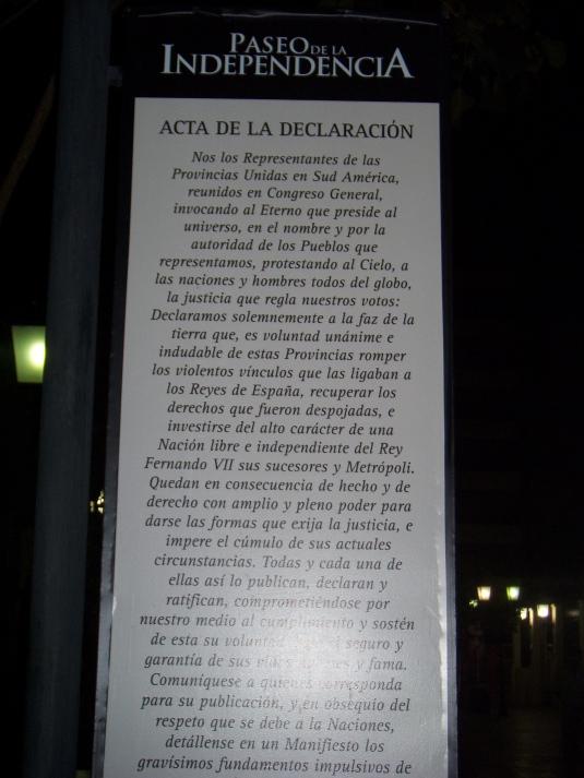 Acta de la Independencia @Marina Menéndez